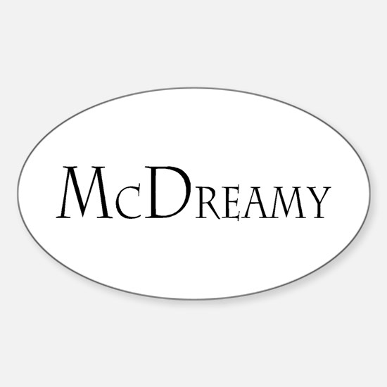 McDreamy Oval Decal