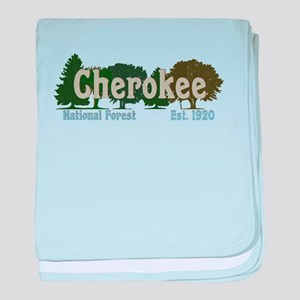 Print Press Cherokee National Forest baby blanket