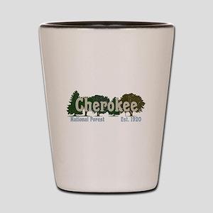 Print Press Cherokee National Forest Tr Shot Glass