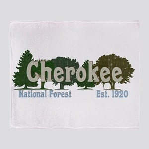 Print Press Cherokee National Forest Throw Blanket