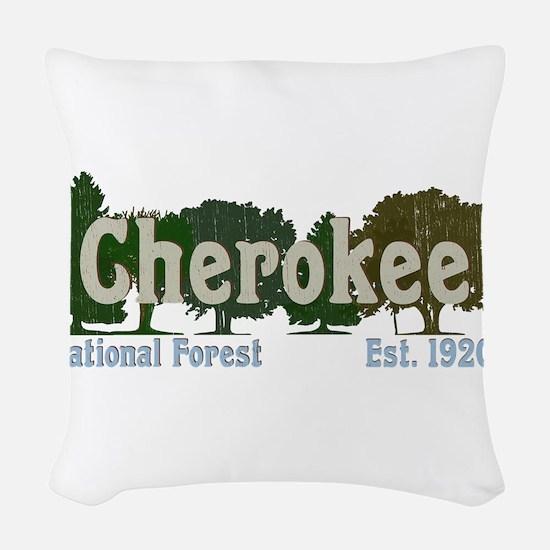 Print Press Cherokee National Woven Throw Pillow