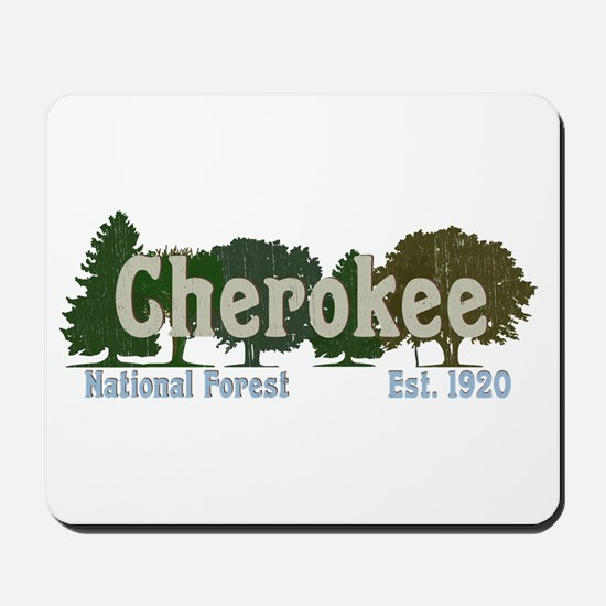 Print Press Cherokee National Forest Tre Mousepad