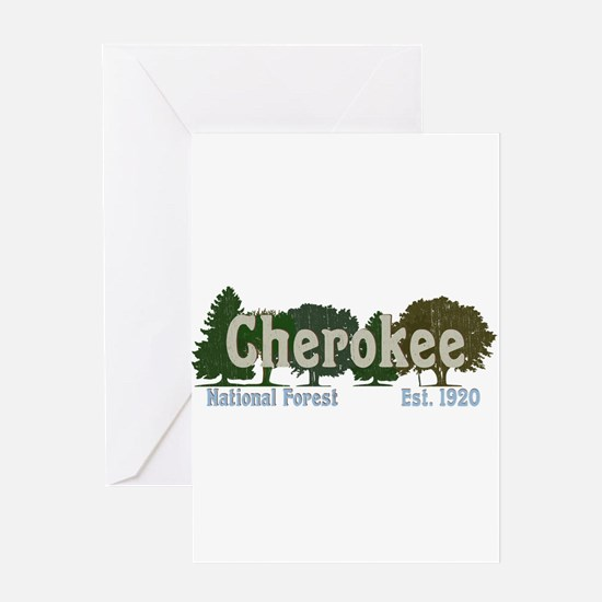 Print Press Cherokee National Fores Greeting Cards