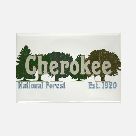 Print Press Cherokee National Forest Trees Magnets