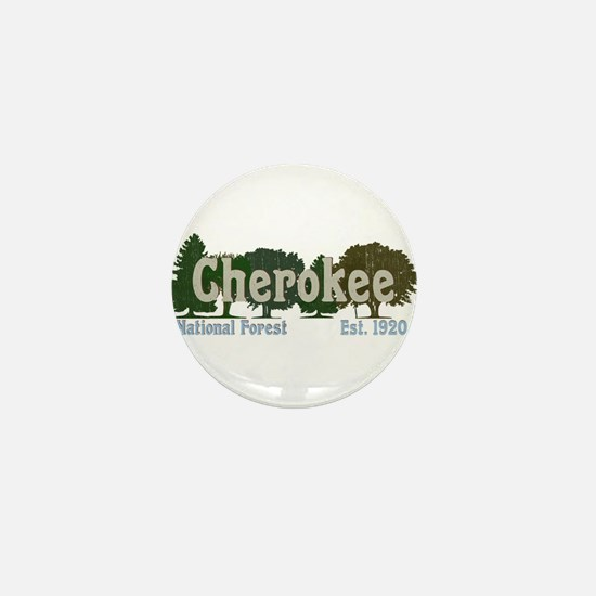 Print Press Cherokee National Forest T Mini Button
