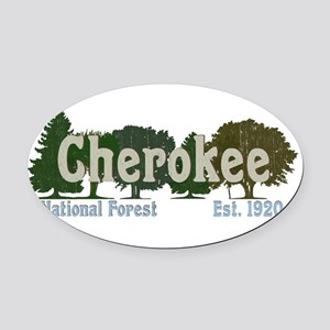 Print Press Cherokee National Fore Oval Car Magnet