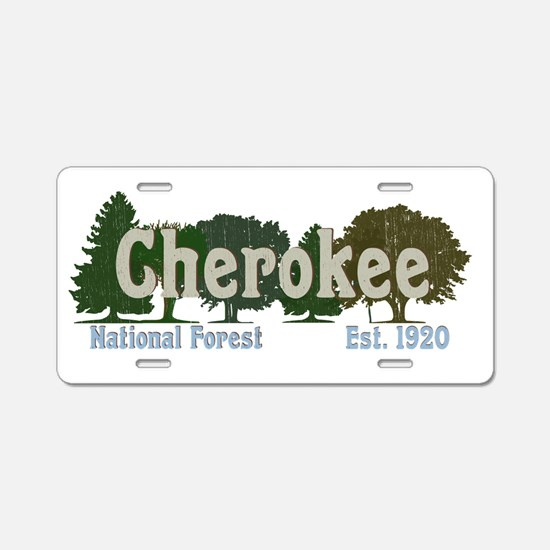 Print Press Cherokee Nation Aluminum License Plate