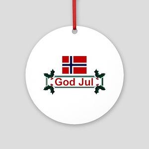 Norway God Jul Keepsake Ornament
