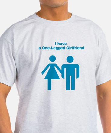 one-legged girlfriend Ash Grey T-Shirt