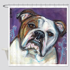 Portrait of an English Bulldog Shower Curtain