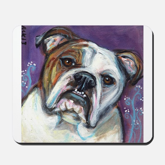 Portrait of an English Bulldog Mousepad