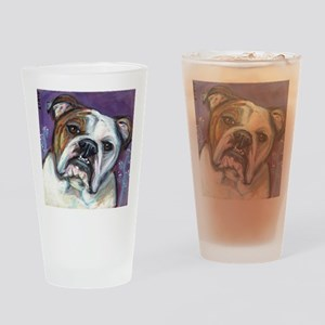 Portrait of an English Bulldog Drinking Glass