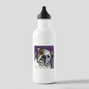 Portrait of an English Bulldog Water Bottle