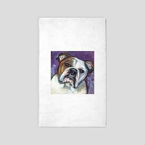 Portrait of an English Bulldog 3'x5' Area Rug