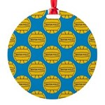 Water Polo Balls Round Ornament