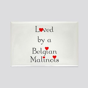 Loved by a Belgian Malinois Rectangle Magnet