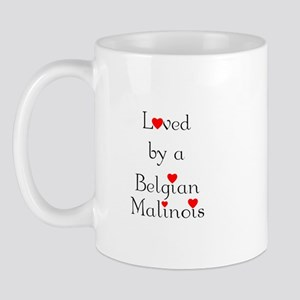 Loved by a Belgian Malinois Mug