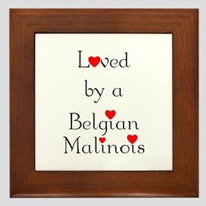 Loved by a Belgian Malinois Framed Tile