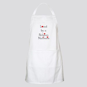 Loved by a Belgian Malinois BBQ Apron