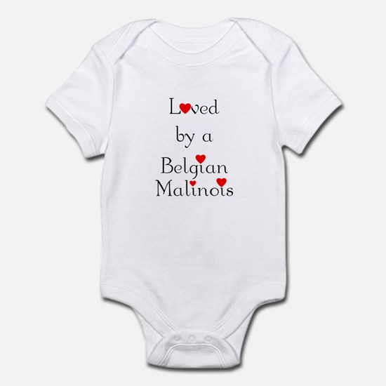 Loved by a Belgian Malinois Infant Bodysuit