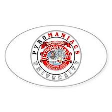 Get schooled @ TeamPyro Oval Sticker