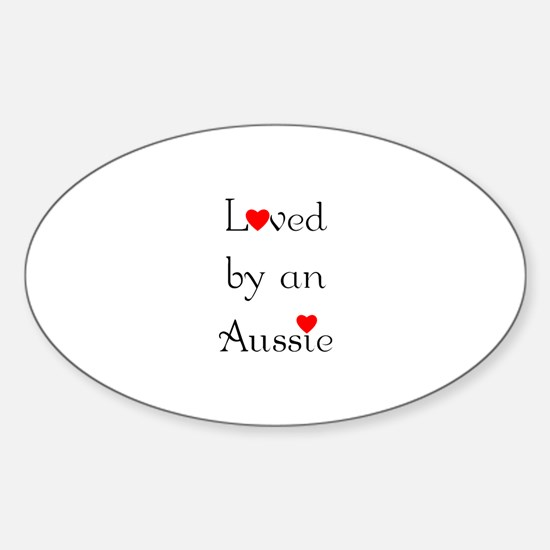 Loved by an Aussie Oval Decal