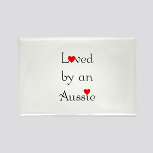 Loved by an Aussie Rectangle Magnet