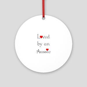 Loved by an Aussie Ornament (Round)