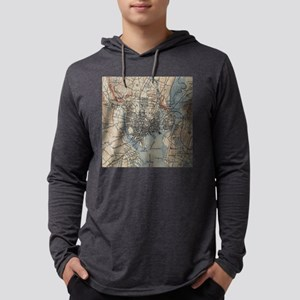 Vintage Map of New Haven Connect Mens Hooded Shirt