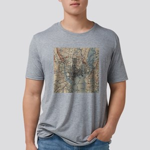 Vintage Map of New Haven Co Mens Tri-blend T-Shirt