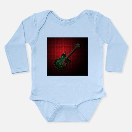 KuuMa Guitar 09 (R) Long Sleeve Infant Bodysuit