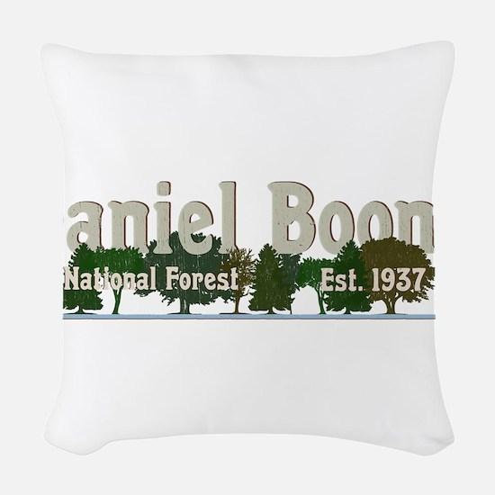Vintage Daniel Boone National Woven Throw Pillow