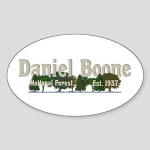 Vintage Daniel Boone National Forest Trees Sticker