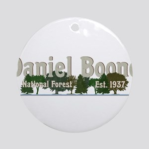 Vintage Daniel Boone National Fores Round Ornament