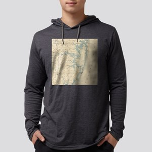 Vintage Map of Ocean City Maryla Mens Hooded Shirt