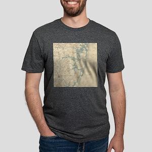 Vintage Map of Ocean City M Mens Tri-blend T-Shirt