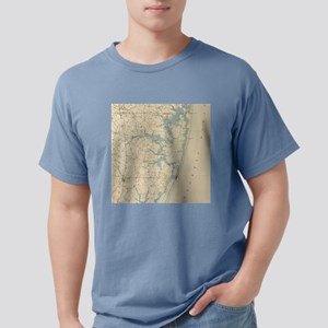 Vintage Map of Ocean Cit Mens Comfort Colors Shirt