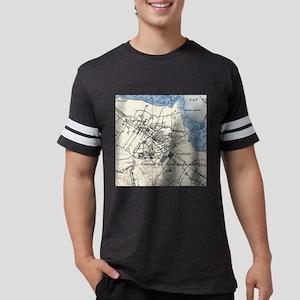 Vintage Map of Palo Alto Calif Mens Football Shirt