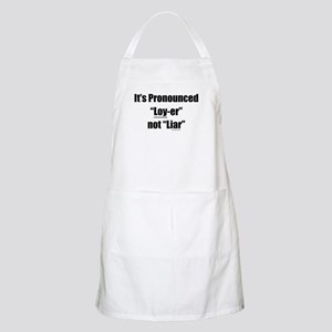 Legal Pronunciation BBQ Apron