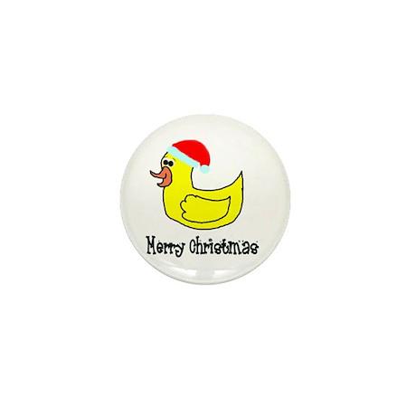 Senor Christmas Duckie Mini Button (10 pack)