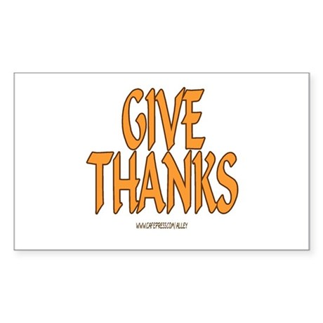 Give Thanks Rectangle Sticker