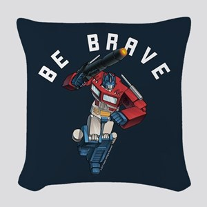 Optimus Prime Be Brave Woven Throw Pillow