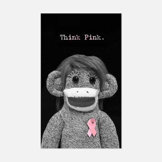 Think Pink Emma Sticker (Rectangle)