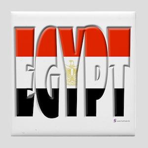 Word Art Flag of Egypt Tile Coaster