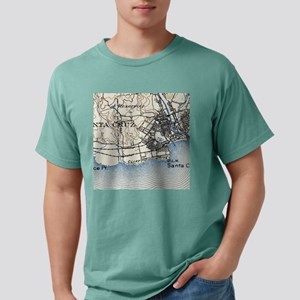 Vintage Map of Santa Cru Mens Comfort Colors Shirt