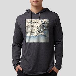 Vintage Map of Santa Cruz Califo Mens Hooded Shirt