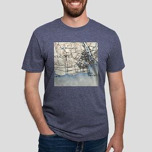 Vintage Map of Santa Cruz C Mens Tri-blend T-Shirt