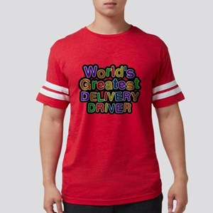 Worlds Greatest DELIVERY DRIVER Mens Football Shir