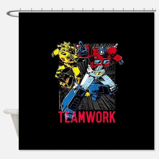 Transformers Teamwork Shower Curtain