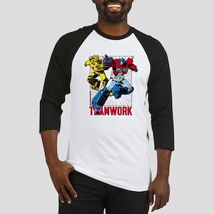 Transformers Teamwork Baseball Tee